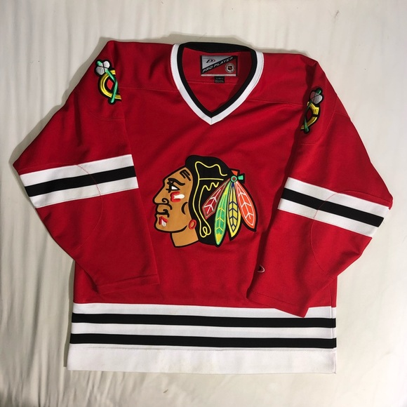 newest 309c8 54114 Pro Player Chicago Blackhawks Hockey Jersey